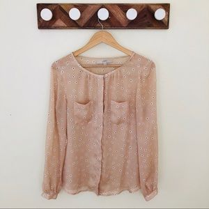 LOFT Pink Blouse Sz M